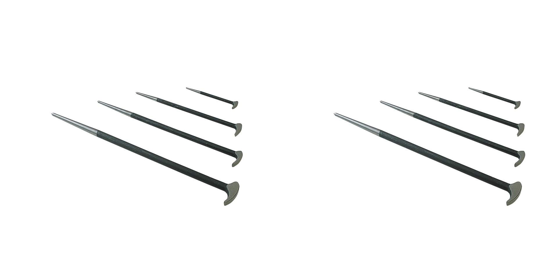 Sunex 9804 Rolling Head Pry Bar Set, 6-Inch - 20-Inch, 4-Piece (Pack of 2)