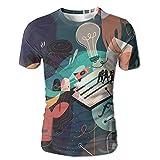 Home Men's Fashion Lifelike Explosion 3D Print Round Collar Short Sleeve T-shirts Tees