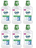 Tom's of Maine Natural Wicked Fresh Mouthwash, Peppermint Wave, 16 Ounce, Pack of 6