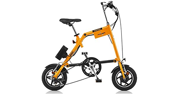 Nanoo EFB12 Electrica Bicicleta plegable elŽctrica con pedaleo asistido Nanoo Naranja: Amazon.es: Deportes y aire libre