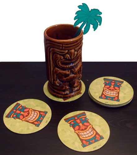 - 50 Pack of Tropical Luau Tiki Bar Coasters