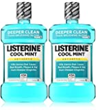 Listerine UltraClean Mouthwash, 1.5 L, Cool Mint, 50.72 oz (Pack of 2)