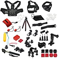 YFY 25-In-1 Basic Outdoor Sports Accessories Kit for GoPro Hero Cameras