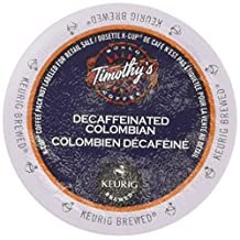 Timothy's World Decaf Colombian Coffee K-Cups for Keurig Brewers 96 Count