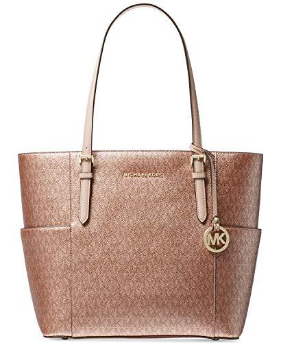 Michael Kors Women's Jet Set Travel Small Logo Tote Bag (Soft Pink/Rose Gold) ()