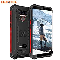 OUKITEL WP5 (2020) Rugged Smartphone, 8000mAh Battery IP68 Waterproof Android 10 Unlocked Cell Phones 4G LTE Dual SIM, 5.5inches 4GB 32GB Triple Camera Face/Fingerprint Unlock GPS Global Version