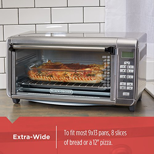 BLACK+DECKER TO3290XSD TO3290XSBD Toaster Oven, 8-Slice, Stainless Steel by BLACK+DECKER (Image #4)