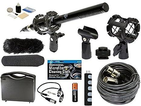 Profesional Avanzada Broadcast Micrófono y Kit de accesorios para ...