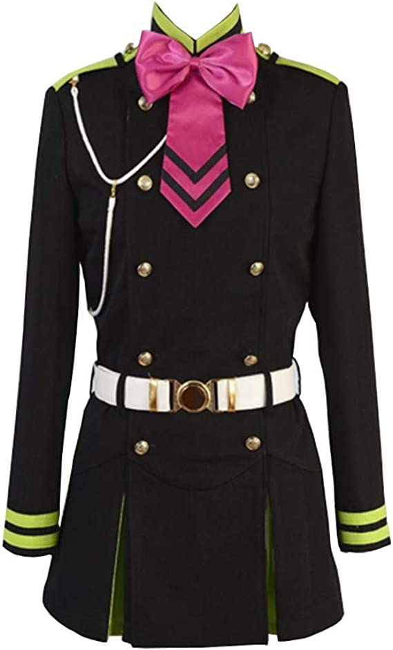 Amazon.com: COSEASY Seraph of The End Shinoa Hiragi vestido ...