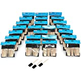 US Art Supply 1 inch Foam Sponge Wood Handle Paint Brush Set (Full Case of 600 Brushes) - Lightweight, Durable and Great for Acrylics, Stains, Varnishes, Crafts, Art