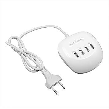 Redstrong Cargador Rápido USB de Cuatro Puertos 4A Cargador ...