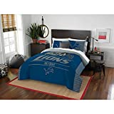 NFL Detroit Lions ''Draft'' Full/Queen Bedding Comforter Set