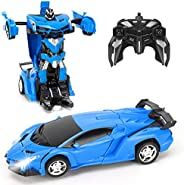 FIGROL Transform Car Robot, Robot Deformation Car Model Toy for Children, Transforming Robot Remote Control Ca