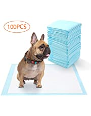 DADYPET Tapis Educateur Chien, Lot de 100, Tapis Educateurs pour Apprentissage de la propreté, Tapis éducateurs pour Chiots, Super Absorbant, 5 Couches, 56 * 56cm