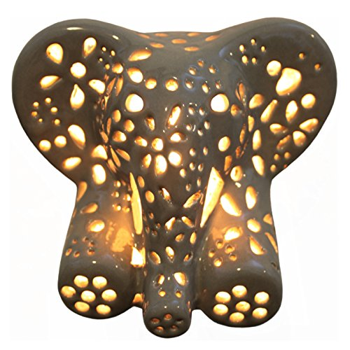 Child's Night Light - Elephant (Gray)