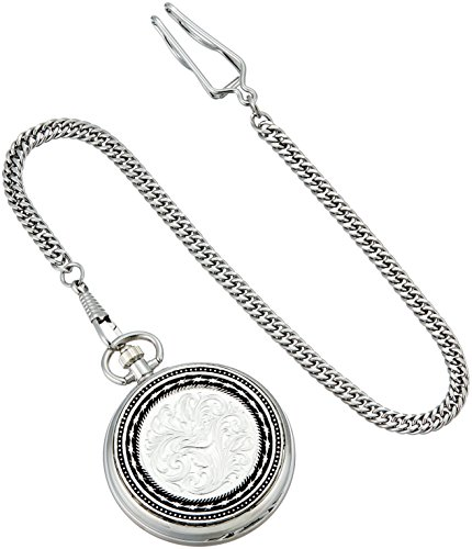 Montana Silversmiths WCHP40D Montana Time Analog Display Quartz Pocket Watch by Montana Silversmiths (Image #1)