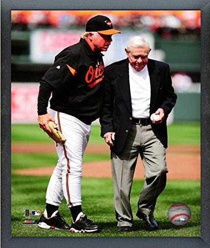 Buck Showalter & Earl Weaver Baltimore Orioles MLB Action Photo (Size: 12\' x 15\') Framed Photo File