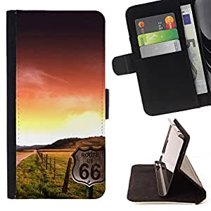 For HTC One M8 Case , Sunset Beautiful Nature 102- la tarjeta de Crédito Slots PU Funda de cuero Monedero caso cubierta de piel