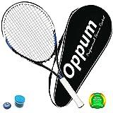 OPPUM Adult Full-Carbon/Aluminum-Carbon Tennis Racket Optional, Full-Carbon Fiber Tennis Racquet Super Light Weight Shock-proof and Throw-proof, Include Tennis Bag Tennis Overgrip Vibration Dampener