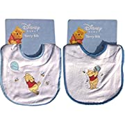 Disney Baby Winnie the Pooh 2-pack Embroidered Terry Bibs