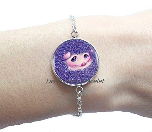 Fashion Bracelet,Purple Cute Baby Hedgehog Bracelets Choker Statement Silver Bracelet For Women Dress Accessories-Abaicer Jewelry,AE0039 -