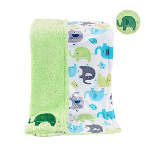 Double Sided Baby Pet Dog Bed Blankets and Throws for Small Medium Dogs Cats Soft Bed Cover Mat for Puppy Kennel and Couch in Winter or AC Room (Green(40.9