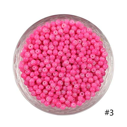 Coohole 100pcs 4mm DIY Lots Charm Glass Round Seed Beads Jewelry Making Craft -