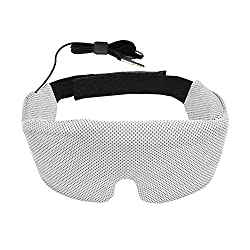 Sleep Easier & Better Unique shape design for the eyes totally blocks all the light and distraction. Fully-adjustable adhesive tape allows for most people to wear. Enjoy your sleep in a simple and easier way. Built-in HD Audio Speaker Adjustable ...