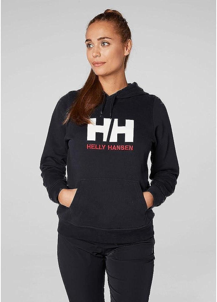 Helly Hansen Damen W Hh Logo Hoodie Jungen Blau (Azul Navy 597)