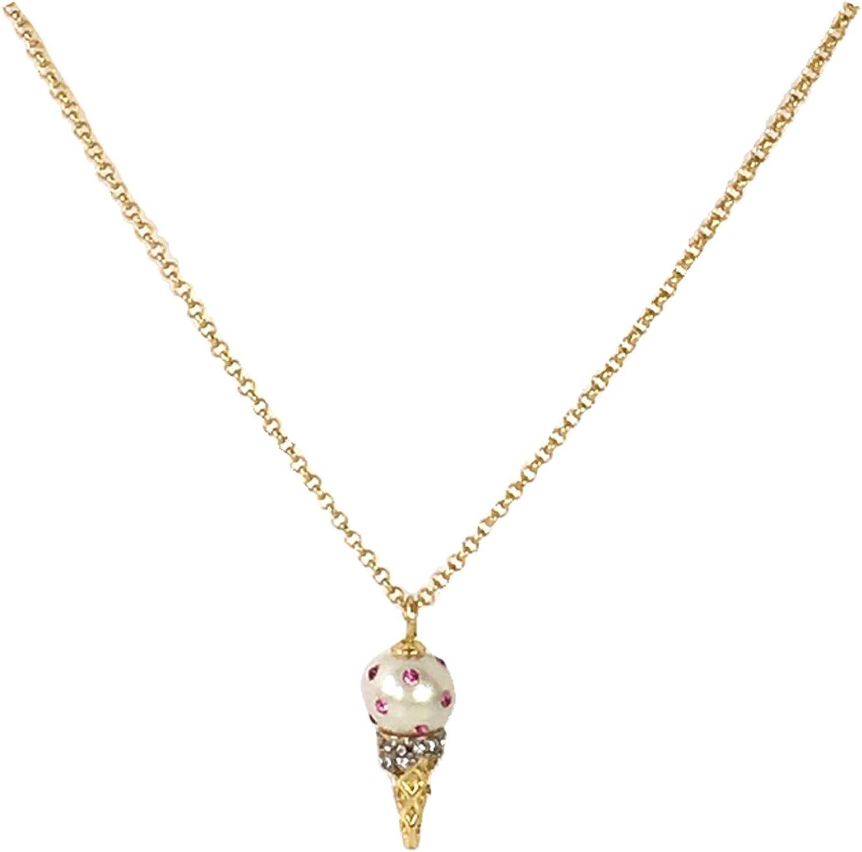 Kate Spade Carnival Nights Ice Cream Cone Pendant Necklace, Cream Multi