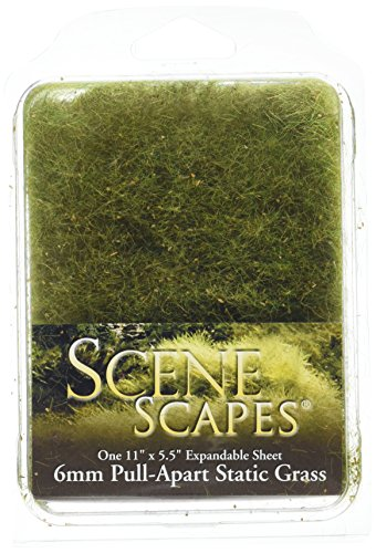 (Bachmann Industries SceneScapes Pull Apart Static Grass, Alpine Green, 6mm)