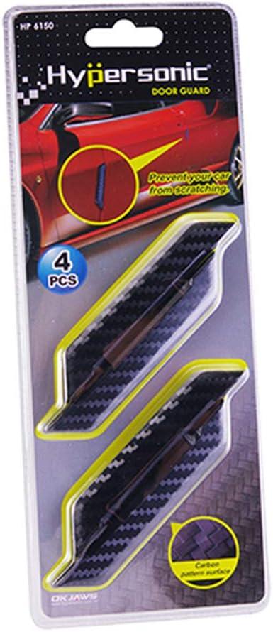 Hypersonic HP6150-3 Satz Universal-T/ürschutzleisten 97x15mm-Selbstklebend-Karbon Look-4-teiliges Set