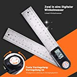 Digital Angle Finder Protractor 7 Inch Stainless