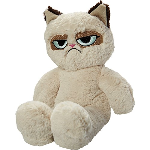 Price comparison product image Rosewood Grumpy Cat Plush Dog Toy (14.5 ins) (Off-White)