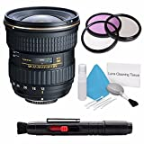 Tokina 12-28mm f/4.0 AT-X Pro APS-C Lens for Canon (International Model) No Warranty+Deluxe Cleaning Kit + Lens Cleaning Pen + 77mm UV Filter Bundle 3