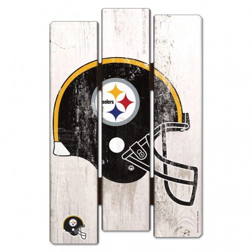 NFL Pittsburgh Steelers Wooden D-Fence Sign by WinCraft