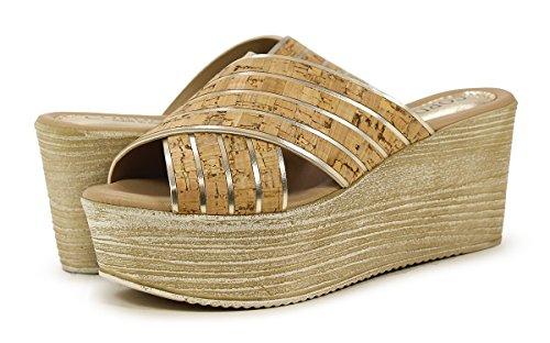 Cordani Jacey Beige Kurk Platform Sandaal