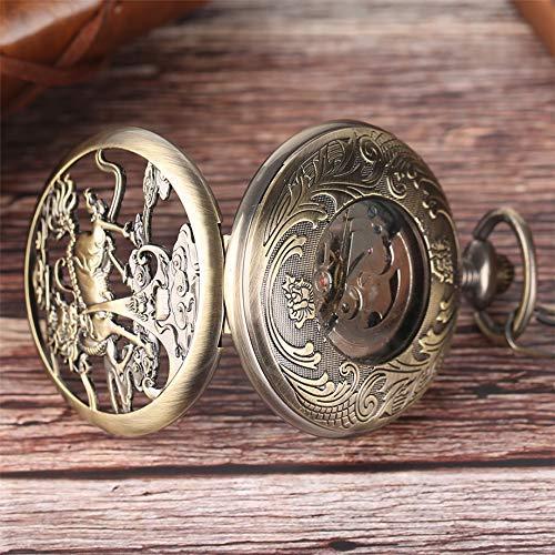 ZJZ vintage automatisk fickur män stil brons kvinnor retro ihålig