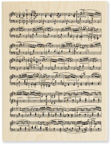 """STAMPENDOUS 460546 Mounted Stamp 3""""X4.5"""", Music Score"""