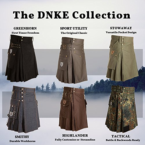 Damn Near Kilt 'Em Men's Tactical Kilt X-Small Military Green by Damn Near Kilt 'Em (Image #7)