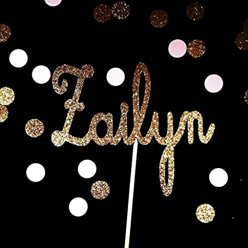 Glitter Name Cake Topper - Personalized - - Birthday Name Cake Toppers