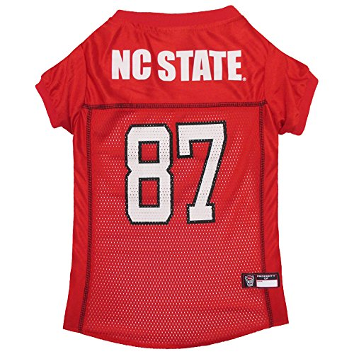 Pets First NCAA NORTH CAROLINA STATE WOLFPACK DOG Jersey, Medium