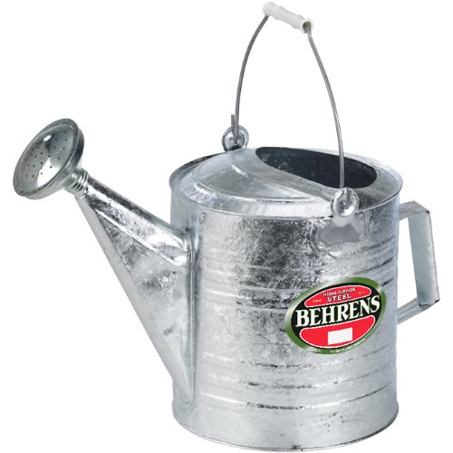 Behrens 210 2-1/2-Gallon Steel Watering Can, Silver (Flower Shop Tin)