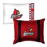 2pc NCAA Louisville Cardinals Pillowcase and Pillow Sham Set College Team Logo Bedding Accessories