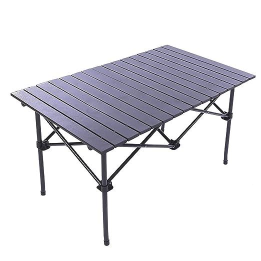 WZHFOLDINGTABLE Mesa De Comedor Plegable Mesa Plegable De Aluminio ...