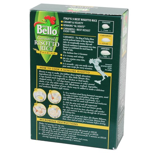 Riso Bello - Carnaroli Risotto Rice, Gluten Free - 17.5 oz (Pack of 12) by Riso Bello