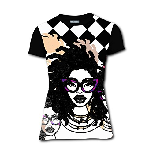 Hip-hop Dreadlocks Girl T-Shirts Tee Shirt for Women Pregnant Tops Round Black (Out Of Africa Costumes Ideas)