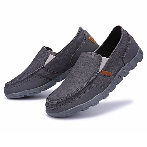 Juleya Homme Mocassins Chaussures Plate Loafers Toile Formateurs Plimsolls  Mode Été Pompes Plate-Forme Chaussure e44c25a46fd
