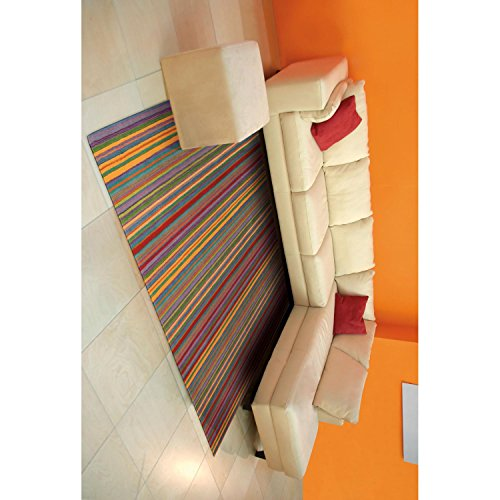 Nourison Skyland (SKY02) Stripe Rectangle Area Rug, 2-Feet 6-Inches by 4-Feet  (2'6