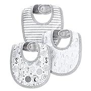 Lamaze Baby Organic Essentials 3 Piece Bib Set, grey, One Size